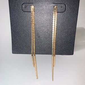 ⭐️2/$12! Gold-tone straight dangle EARRINGS
